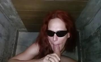 Blind girl smearing poop on naked body