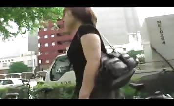 Japanese teen shitting in public place