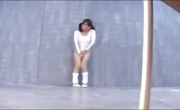 Japanese swimsuit pooping