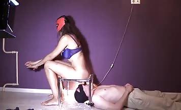 Amazing college girl feeding her cheating boyfriend