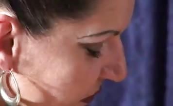 Dark haired mistress pooping