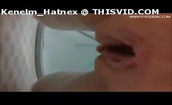 Tattooed girl pooping underwater