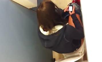 Schoolgirl spied in toilet