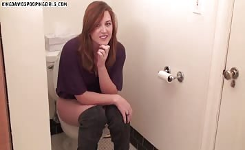 Shitting in toilet