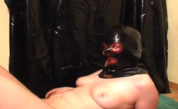 Masked babe forced to eat crap