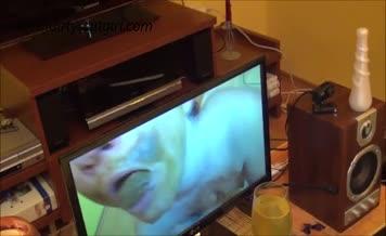 Brunette czech babe eats her own shit