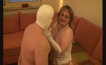 Forced slave to lick a wet pussy