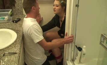 Forced male slave to lick her dirty ass