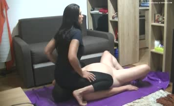 Asian mistress and her slave