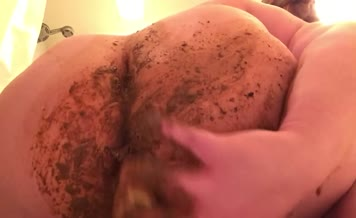 Rubbing a lot of shit on big ass
