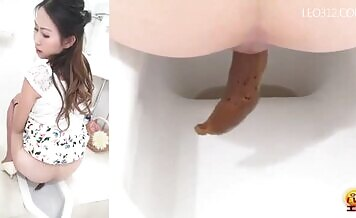Japanese girl pooping