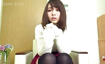 Japanese teen wearing long socks